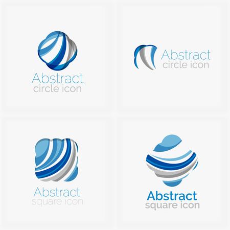 abstract shape: Circle abstract shape icons
