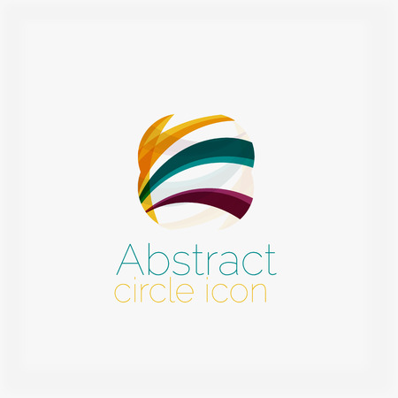 Abstract symmetric geometric shapes, business icon Vector