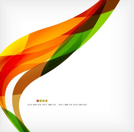 pattern corporate identity orange: Business wave corporate background Illustration