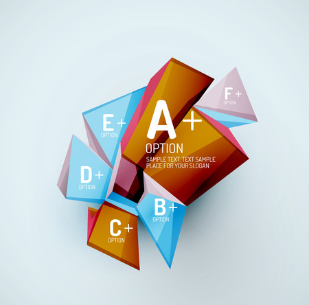 sample: Geometric shapes with sample text. Abstract template