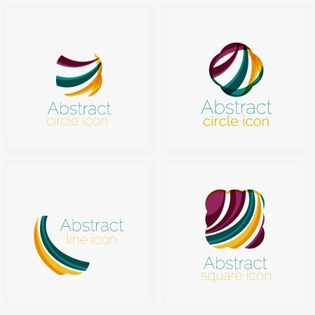 symmetric: Abstract symmetric geometric shapes, business icons