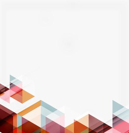 triangulo: Fondo geom�trico abstracto. Modernos tri�ngulos superpuestos Vectores