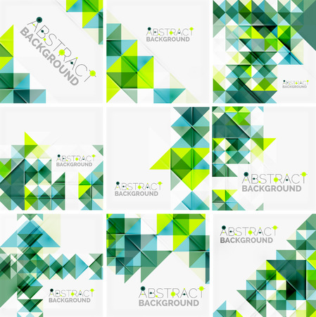 overlapping: Abstract geometric background. Modern overlapping triangles Illustration