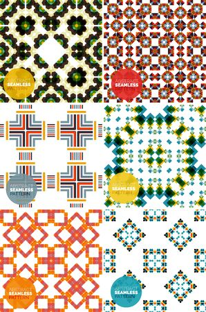 set of colorful seamless geometric patterns. Modern stylish abstract textures Vector