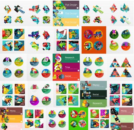 mega: Mega collection of flat web infographics