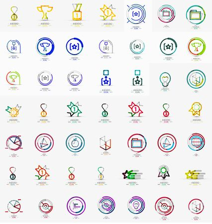 Large corporate company collection. Universal icon set for various ideas Vector