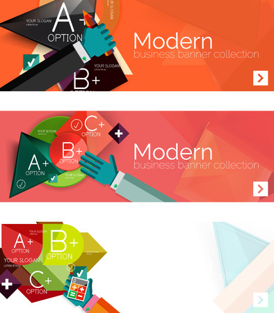 visualize: Modern flat design infographic banners