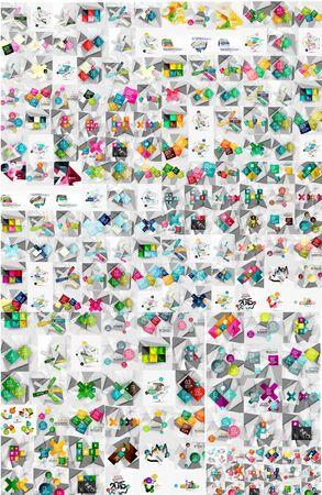 sjabloon: Enorme mega collectie van abstracte geometrische papier grafische layouts