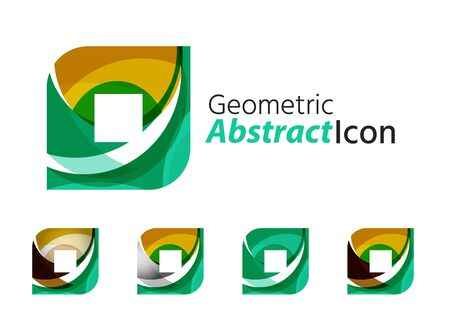 rhomb: Set of abstract geometric company square, rhomb