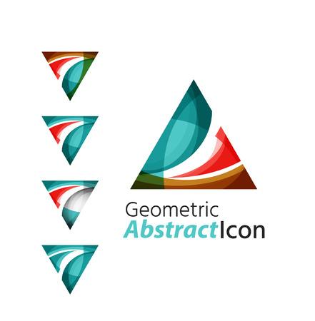 Set of abstract geometric company  triangle, arrow Vector