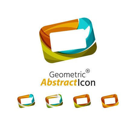 Set of abstract geometric company logo frame, screen Vector