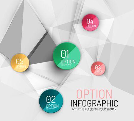 angular: Vector fresh business abstract infographics template