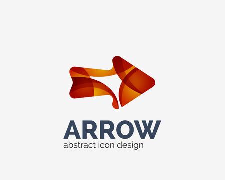 top pointer: Clean moden wave design arrow icon Illustration