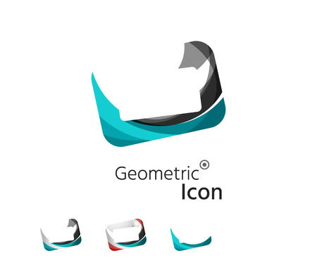 Set of abstract geometric company icon frame, screen Vector