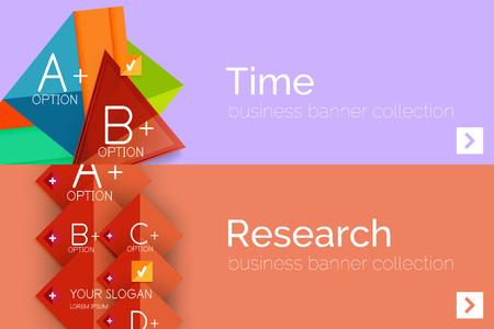 angular: Infographic flat design banner with geometric diagram Illustration