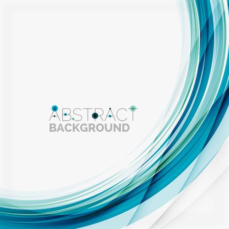 абстрактный: Голубая волна абстрактного фона Иллюстрация