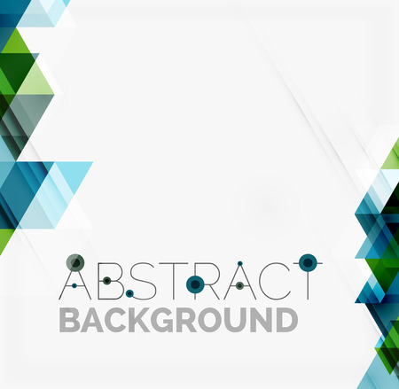 Abstract geometric background. Modern overlapping triangles Vettoriali
