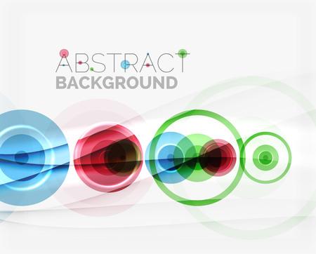 circle shape: Circle geometric shape composition Illustration