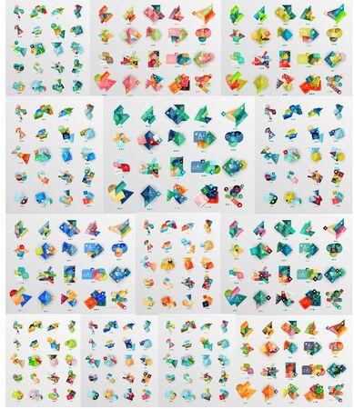 Geometrische Banner, Vorlagen, Layouts. Papier Grafiken Mega ...