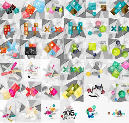 mega: Mega collection of geometric paper style banners