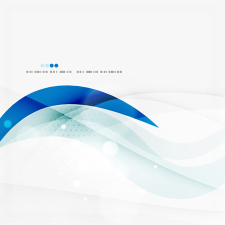 Blue business corporate wave line background Reklamní fotografie - 40813643