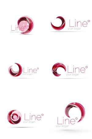 company: Swirl company logo design Illustration