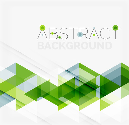 green lines: Abstract geometric background. Modern overlapping triangles Illustration