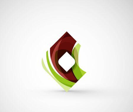 rhomb: Abstract geometric company icon square, rhomb
