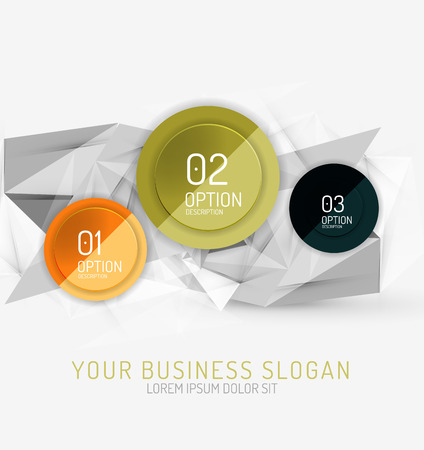 Vector fresh business abstract infographics on 3d triangular background Vector