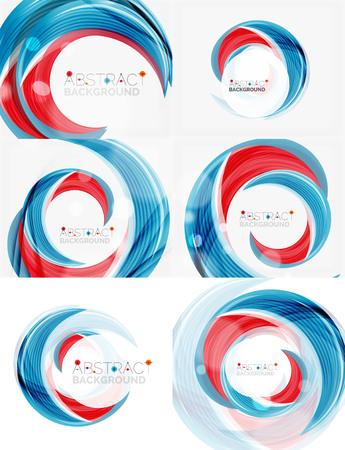 swirl: Vector swirl line abstract background