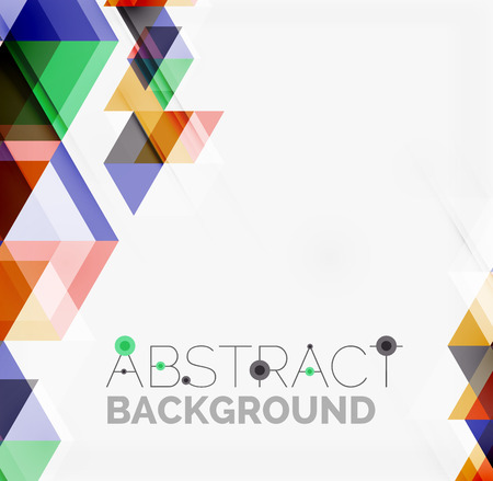 Abstract geometric background. Modern overlapping triangles Vector