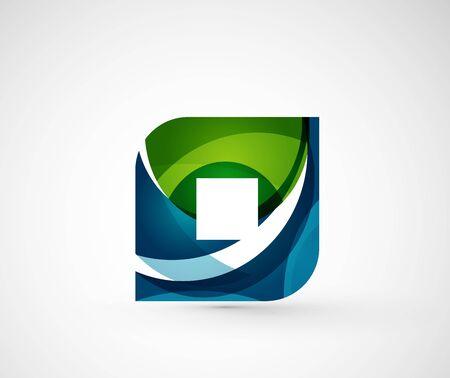 rhomb: Abstract geometric company logo square, rhomb