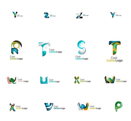 universal: Set of universal company logo ideas, business icon collection Illustration
