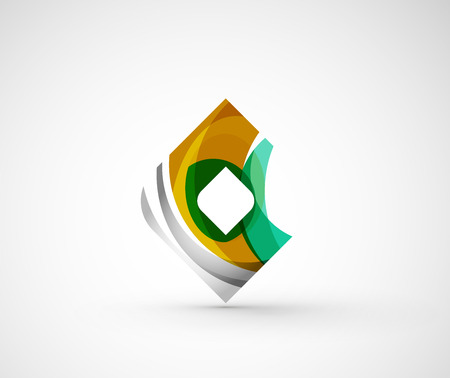 rhomb: Abstract geometric company logo square, rhomb