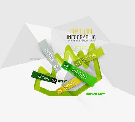 abstract business: Modern abstract business geometric infographics
