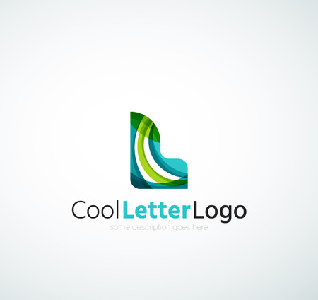 Letter company logo Ilustração