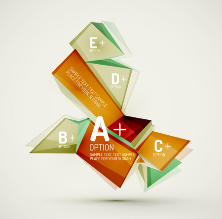 text sample: Geometric shapes with sample text. Abstract template