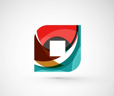 rhomb: Abstract geometric square, rhomb