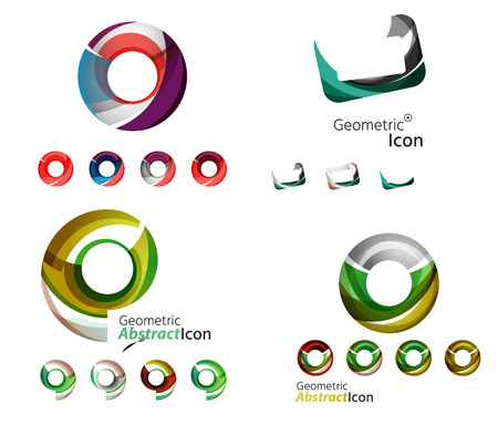 universal: Universal abstract geometric shapes - business emblems Illustration
