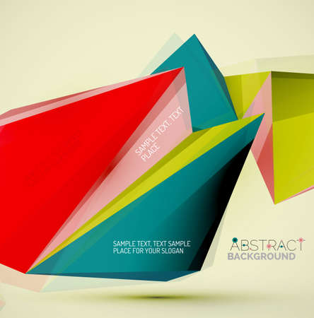 backdrop design: Geometric shapes in the air. Vector abstract background