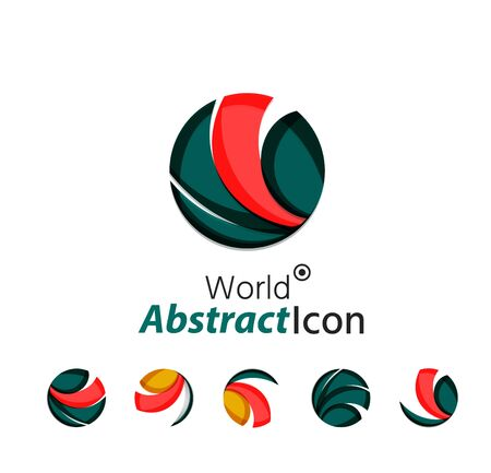 3d circle: Abstract geometric business corporate emblem - globe, world, circle Illustration