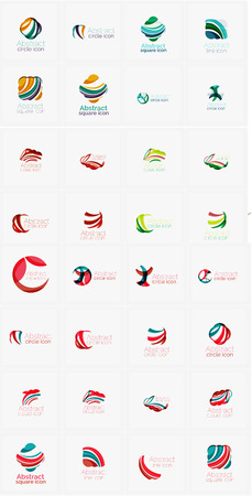 loops: Vector abstract mega collection, loops, concepts swirls waves Illustration