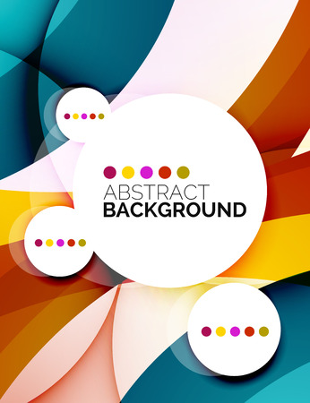 fresh colors: Colorful fresh modern abstract background Illustration