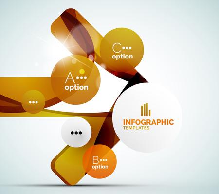 Modern business infographics Vector