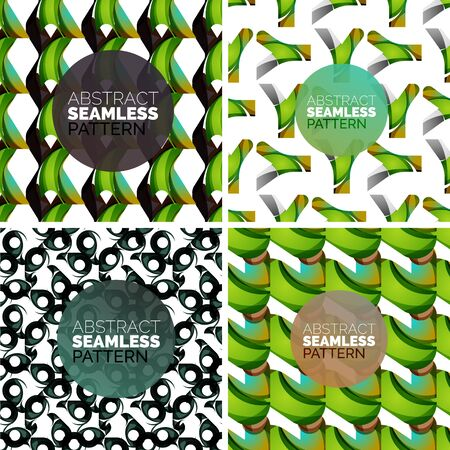 Vector set of colorful seamless geometric patterns. Modern stylish abstract textures Vector