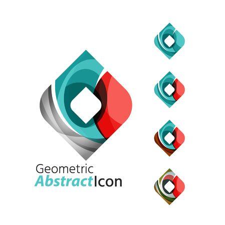 rhomb: Set of abstract geometric company   square, rhomb