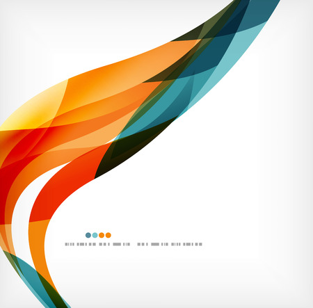curve: Business wave corporate background Illustration