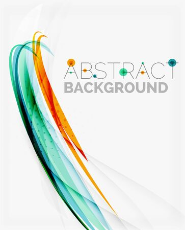 bright: Bright colorful line abstract background
