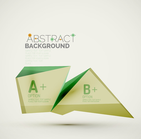 sample text: Geometric shapes with sample text. Abstract template
