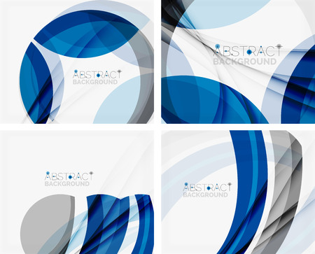 Corporate blue wave background for your business message. Vector illustration Vector